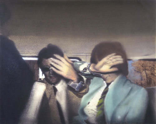 Richard Hamilton. Swingeing London 67, 1968–9. Acrylic, collage and aluminium on canvas, 84.8 x 103 cm. Tate. © The estate of Richard Hamilton.