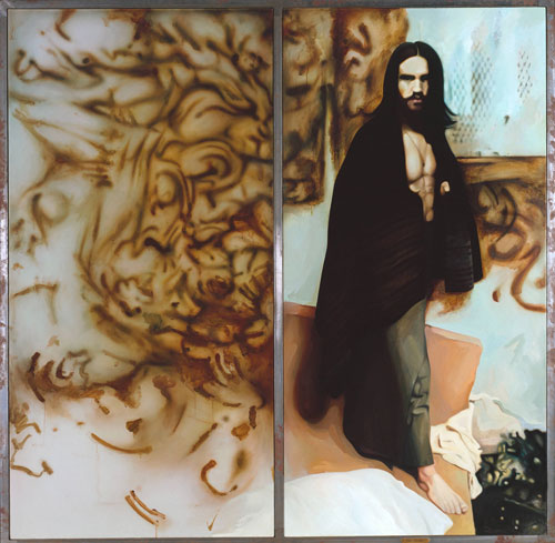 Richard Hamilton, The Citizen, 1981-3. Oil paint on two canvases, each: 200 x 100 cm. Tate
