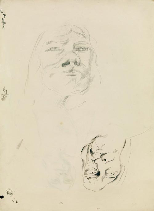 Richard Hamilton, <em><strong>Finn MacCool - first study</strong></em>, 1949. Pencil and ink on paper 38.4 x 28 cm &copy; Richard Hamilton