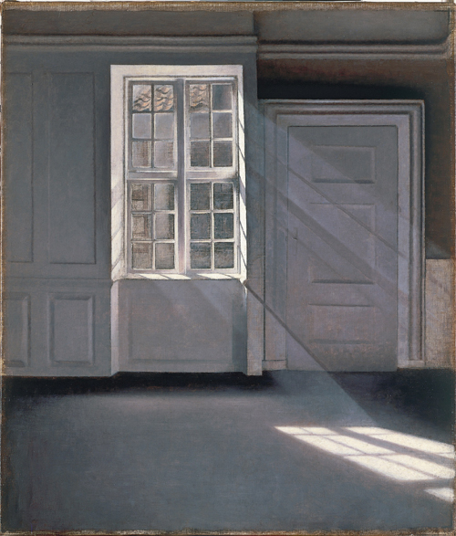 Vilhelm Hammershøi. <em>Sunbeams or Sunshine. Dust Motes Dancing in the Sunbeams</em>, 1900. Oil on canvas, 70 x 59 cm. Ordrupgaard, Copenhagen. Photo Pernille Klemp