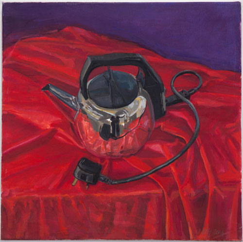 Margaret Harrison. Beautiful Ugly Kettle, 2004. Watercolour on paper, 8 1/2 x 11 in. Photograph: Casey Dorobek, courtesy of Ronald Feldman Fine Arts, New York.