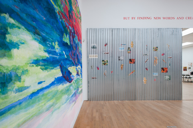 Installation view (2) of Margaret Harrison: Accumulations, Middlesbrough Institute of Modern Art, 23 October 2015 - 24 January 2016. Photograph: Jason Hynes, courtesy of Middlesbrough Institute of Modern Art.