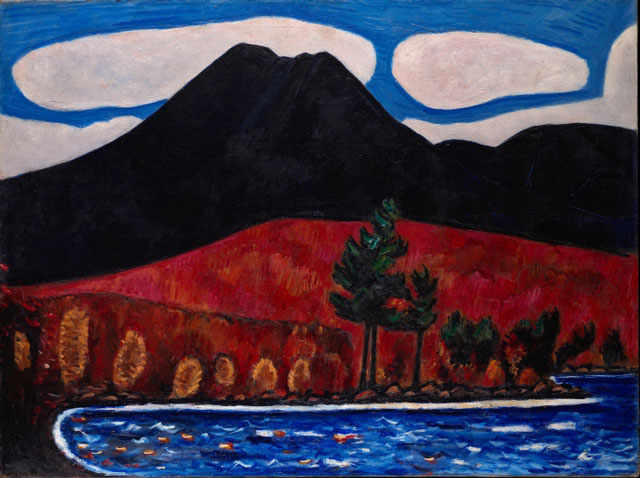 Marsden Hartley. Mt. Katahdin (Maine), Autumn #2, 1939–40. Oil on canvas, 30 1⁄4 x 40 1⁄4 in (76.8 x 102.2 cm). The Metropolitan Museum of Art, Edith and Milton Lowenthal Collection, Bequest of Edith