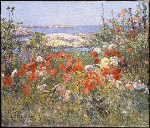 <i>Celia Thaxter's Garden, Isles of Shoals</i>, Maine, 1890. Oil on canvas 