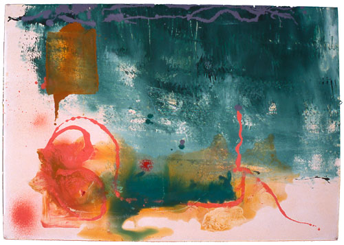 <p>Helen Frankenthaler. <em>Untitled,</em> 1994. Acrylic on paper, 99.3 x 70.5 cm (39⅛ x 27¾ inches).