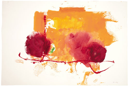 <p>Helen Frankenthaler. <em>Untitled,</em> 1997. Acrylic on paper, 101.6 x 152.4 cm (40 x 60 inches).