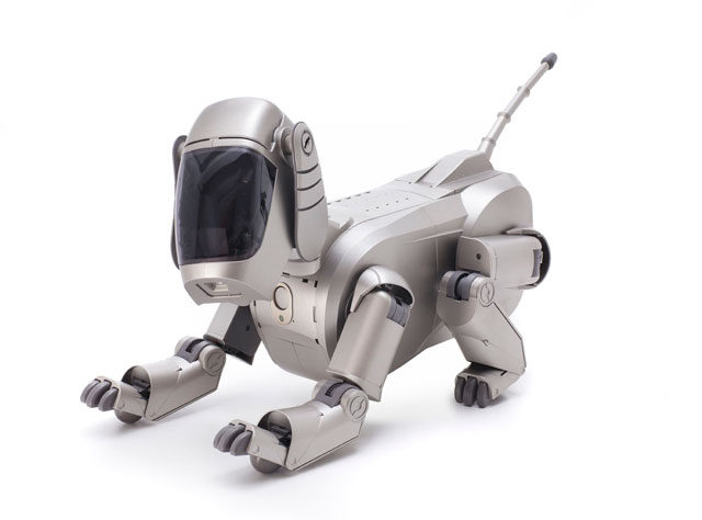 Hajime Sorayama, Sony Corporation, company design. Aibo entertainment robot (ERS-110), 1999.