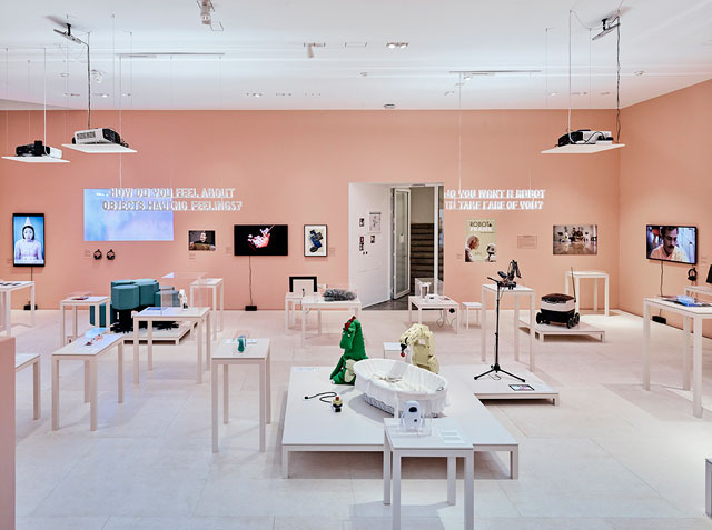 Hello, Robot: Design Between Human and Machine, exhibition view. Photograph: Mark Niedermann.