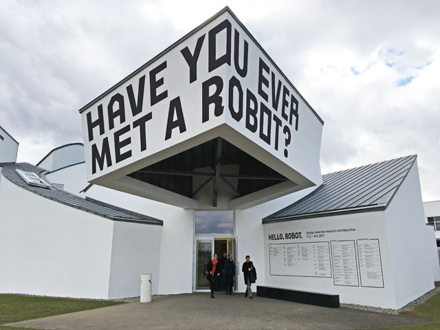Vitra Design Museum, Weil am Rhein, Germany. Exhibition entrance. Photograph: Veronica Simpson.
