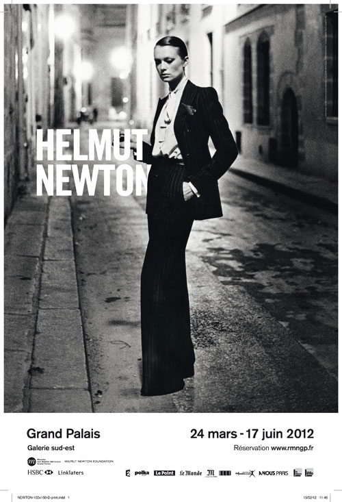Poster for the Helmut Newton exhibition, Grand Palais, Galerie sud-est, Paris.