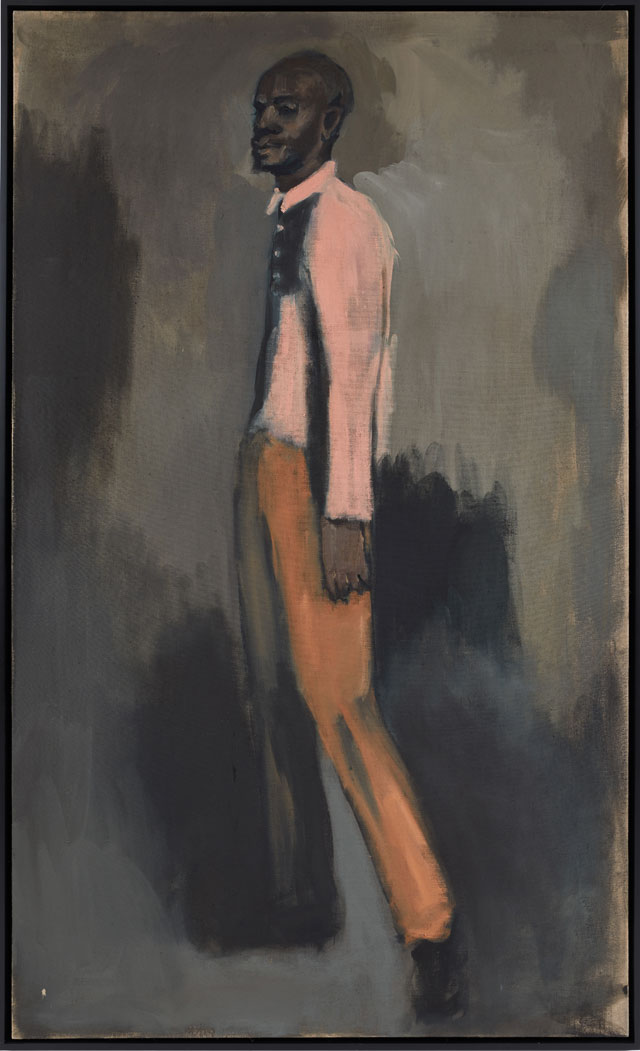 Lynette Yiadom-Boakye. High Power, 2008. Oil on linen, 200 x 120 cm. Image copyright the artist, courtesy The Heong Gallery.