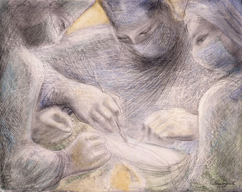 Barbara Hepworth. Concentration of Hands II, 1948. Private Collection © Bowness, Hepworth Estate. Image courtesy of Hazlitt