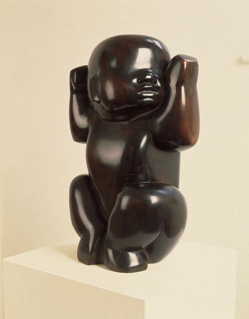 Barbara Hepworth. Infant, 1929. Sculpture; wood, 438 x 273 x 254 mm, Tate © Bowness.