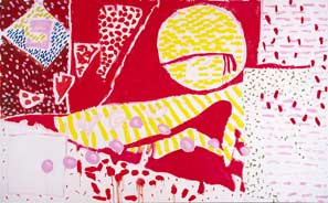 Patrick Heron (1920–99). Red Garden Painting, 3–5 June 1985. Oil on canvas
