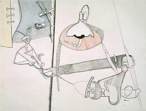 Eva Hesse (1936 - 1970). Untitled 1965. Drawing and gouache on paper, Unique, 496 x 647 mm. Tate. Purchased 1986. © Estate of Eva Hesse