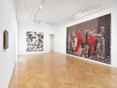 Halftone: Through the Grid, installation view (3), 2014. Courtesy Galerie Max Hetzler Berlin | Paris. Photograph: def image.