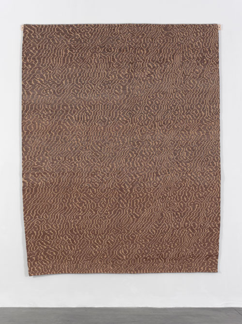 Navid Nuur. Local Study 3: The Eye Codex of the Monochrome, 2014. Custom made rug (brown wool), 272 x 215 cm. Courtesy the artist, Galerie Plan B, Berlin I Cluj, and Galerie Max Hetzler, Berlin I Paris.