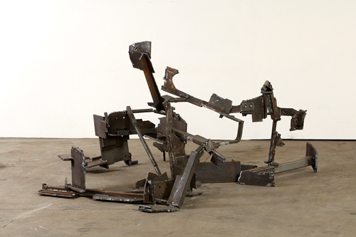 Robin Greenwood. <em>Moonshake, </em>2010. Steel, <em>H</em>. 146 cm. First exhibited Poussin Gallery, 2010. Illustrated in <em>Robin Greenwood: Abstract Sculpture and Painting</em>; Poussin Gallery 2010.