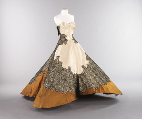 Charles James (American, born England, 1906–1978). <em>Ball Gown</em>, 1953. American. Silk. The Brooklyn Museum Costume Collection at the Metropolitan Museum of Art.