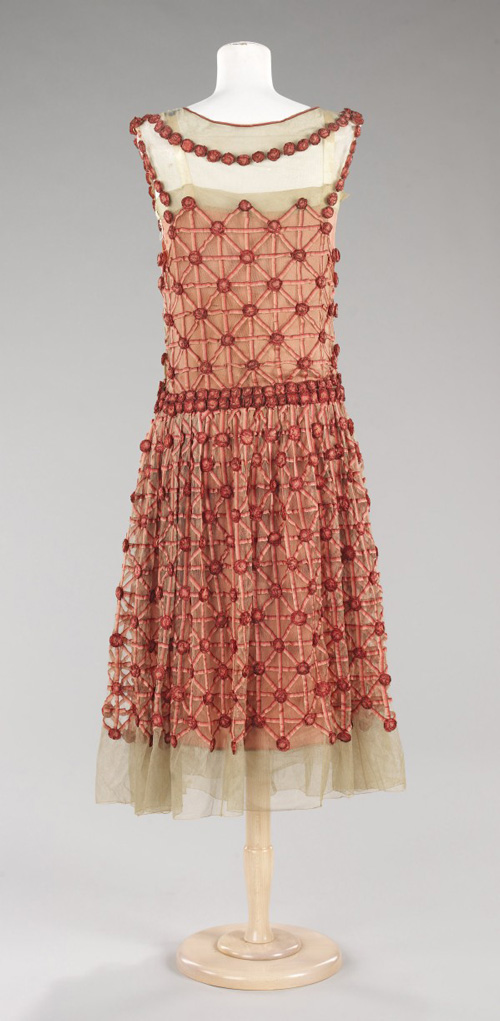 Jeanne Lanvin (French 1867–1946). <em>Evening Dress</em>, summer 1923. Silk. The Brooklyn Museum Costume Collection at the Metropolitan Museum of Art.