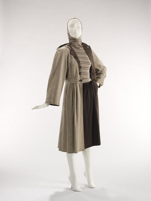 Claire McCardell (American, 1905–1958. <em>Ensemble</em>, 1946. Townley. American. Wool, cotton.  The Brooklyn Museum Costume Collection at the Metropolitan Museum of Art.