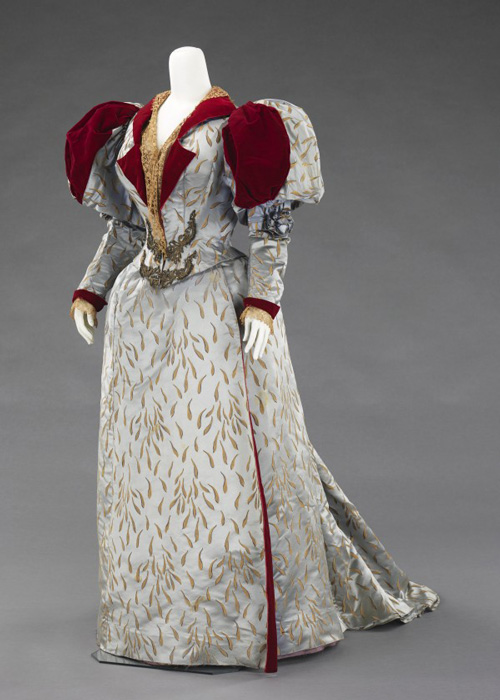 Charles Frederick Worth (British, 1825–1895). Jean-Philippe Worth (French, 1856–1926). <em>Evening Ensemble</em>, 1893. French. Silk, linen, metallic thread.   The Brooklyn Museum Costume Collection at the Metropolitan Museum of Art.
