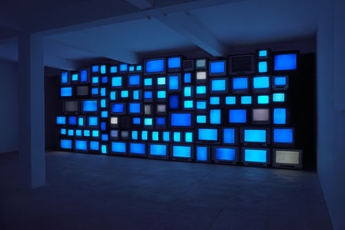 Susan Hiller. Channels, 2013. Installation photograph by Peter White, courtesy the artist, Timothy Taylor Gallery and Matt's Gallery, London.