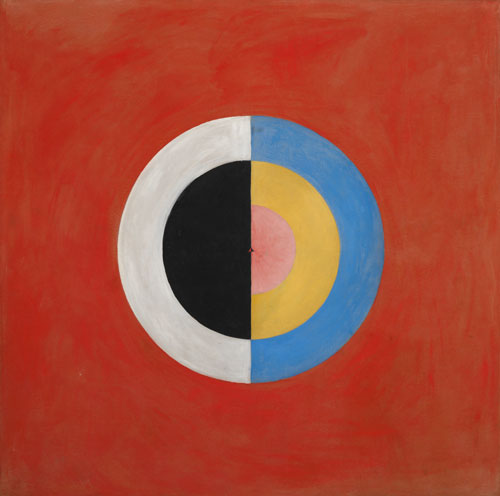 Hilma af Klint. The Swan, No. 17, Group IX, SUW Series, 1914–15. Oil on canvas, 150 x 151 cm. © Stiftelsen Hilma af Klints Verk, Photograph: Moderna Museet/Albin Dahlström.