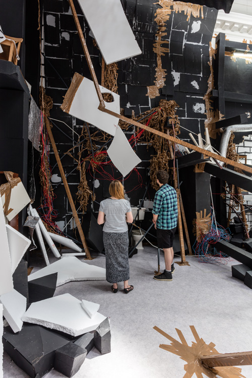 Thomas Hirschhorn, In-Between, installation view (3) at the South London Gallery, 2015. Courtesy Thomas Hirschhorn. Photograph: Mark Blower.