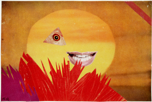 Hannah Höch. Little Sun, 1969. Collage, 16.3 × 24.2 cm. Landesbank Berlin AG.