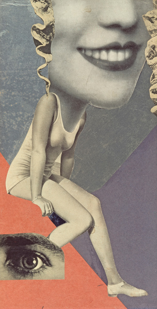 Hannah Höch. Made for a Party, 1936. Collage, 36 x 19.8 cm. Collection of IFA, Stuttgart.