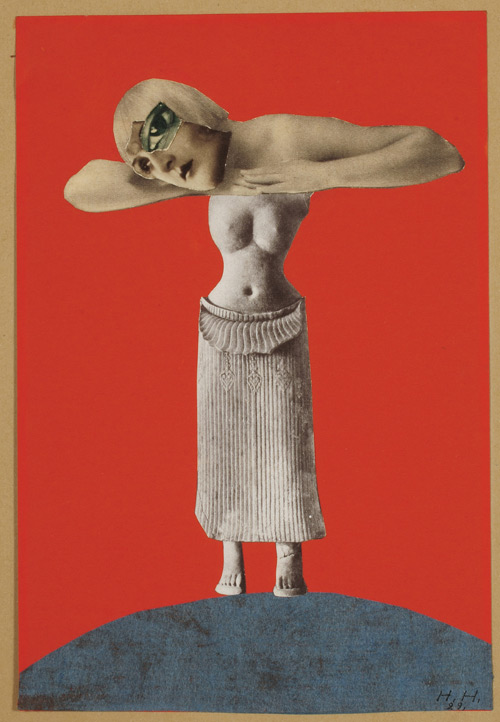 Hannah Höch. Untitled (From an Ethnographic Museum), 1930. Collage, 48.3 x 32.1 cm. Museum für Kunst und Gewerbe, Hamburg.