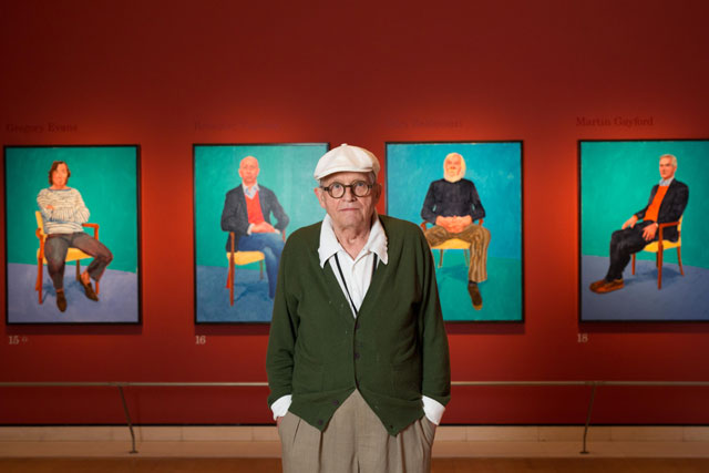 David Hockney at the Royal Academy of Arts, London, 2016. © David Parry/Royal Academy of Arts.