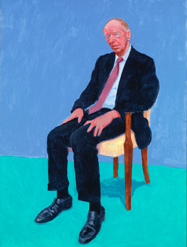 David Hockney. Jacob Rothschild, 5th, 6th February 2014. Acrylic on canvas, 121.9 x 91.4 cm. © David Hockney. Photograph: Richard Schmidt.