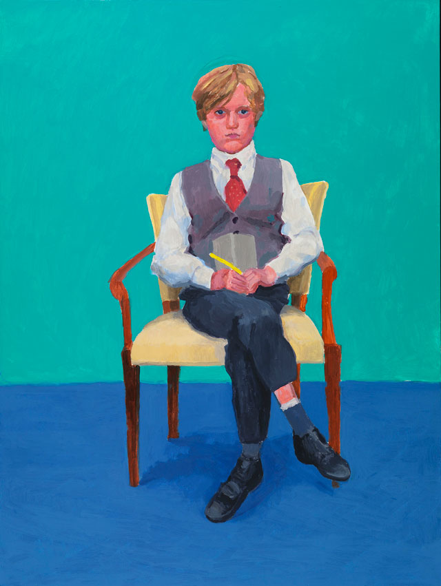 David Hockney. Rufus Hale, 23rd, 24th, 25th November 2015. Acrylic on canvas, 121.9 x 91.4 cm. © David Hockney. Photograph: Richard Schmidt.