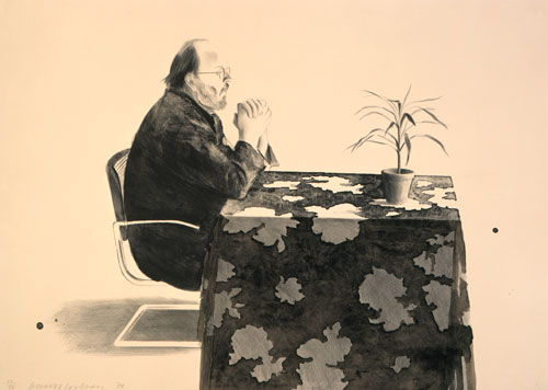 David Hockney. Henry At Table, 1976. Lithograph, 29 3/4 x 41 3/4 in, Edition: 96. © David Hockney / Gemini G.E.L.
