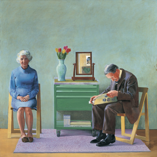 David Hockney. <em>My Parents</em>, 1977. Copyright: Tate. Purchased 1981 © David HockneyPhoto: © Tate, London 2006.