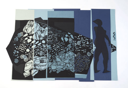 Charlotte Hodes. Grammar of Ornament: Proposition 14, The Colour Blue, 2014. Papercut, 56 x 83 cm.
