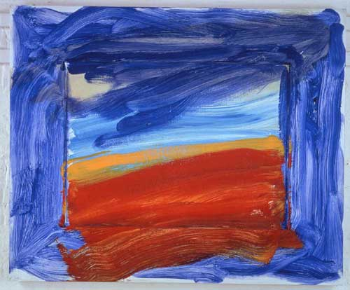 Howard Hodgkin. Americana, 1999-2001. Oil on wood, 91 x 110.5 cm