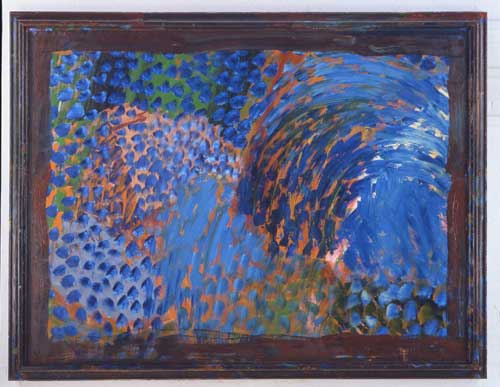 Howard Hodgkin. Chez Stamos, 1998. Oil on wood, 198.1 x 260.4 cm