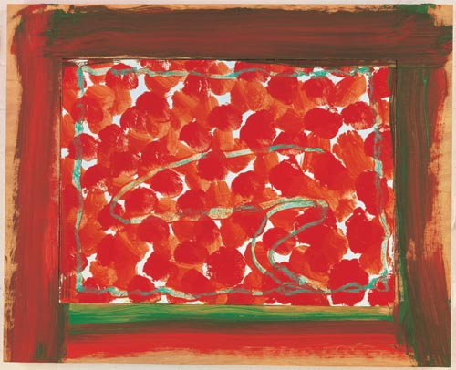 Howard Hodgkin.<em> Wallpaper</em>, 2004. 65.1 x 80.7 cm. Courtesy Gagosian Gallery, London, New York, Los Angeles © Howard Hodgkin