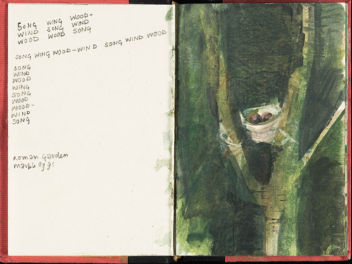 Eileen Hogan. Sketchbooks of Little Sparta.