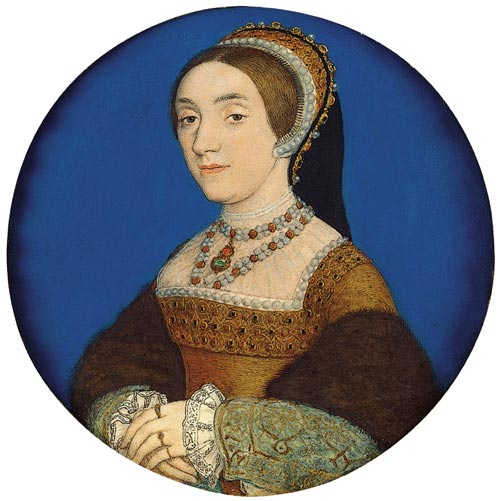 Hans Holbein. <em>Queen Catherine Howard</em>, c.1540. The Royal Collection © 2006 Her Majesty Queen Elizabeth II.