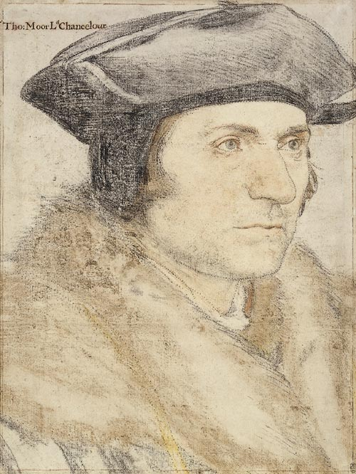 Hans Holbein. <em>Sir Thomas More</em>, 1526-27. The Royal Collection © 2006 Her Majesty Queen Elizabeth II.