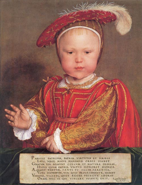 Hans Holbein. <em>Edward, Prince of Wales</em>, 1538-39. Andrew W. Mellon. Collection, Image © 2006 Board of Trustees, National Gallery of Art, Washington.