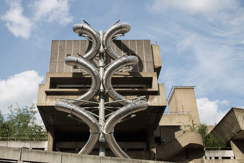 Carsten Holler. Isomeric Slides, during installation at Hayward Gallery, London. Photograph: David Levene.