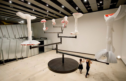 Carsten Höller. Flying Mushrooms, 2015. Installation view 2. © Carsten Höller. Courtesy of the artist, Photograph: © Linda Nylind.