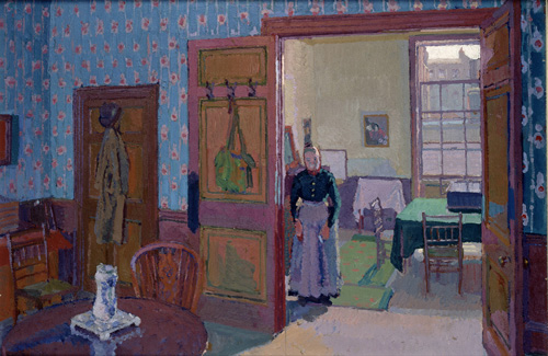 Harold Gilman. <em>Interior with Mrs Mounter</em>, c1916, Ashmolean