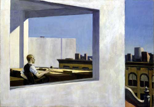 <i>Office in a Small City</i> 1953. Oil on canvas 71.1 x 101.6 cm. The 