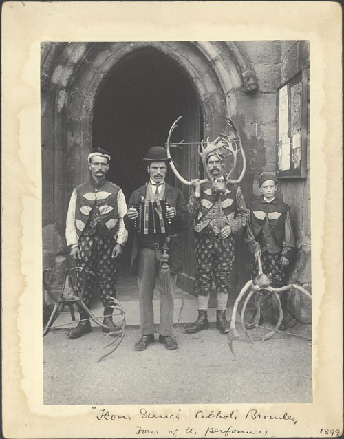 Benjamin Stone. <em>Horn Dance. Abbot's Bromley. Four of the Performers, </em>1899. Platinum print &copy; Courtesy Birmingham Library &amp; Archives Services.